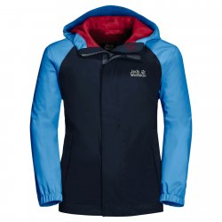 Jack Wolfskin Tucan Sky Blue shell jacket for children. Suitable for play, hiking and camping.