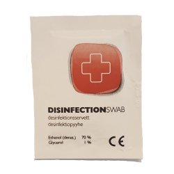 Disinfecting wipes in individual wrapper. Ideal for camping and outdoor activities.
