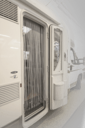 Curtain for caravans and motor homes