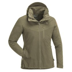 Pinewood Finnveden Hybrid outdoor jacket for women. A jacket for hiking, hunting, fishing and camping.