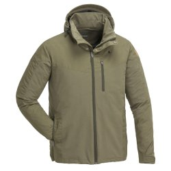 Pinewood Finnveden Hybrid outdoor jacket for men. A durable jacket for hiking, hunting, fishing and camping.