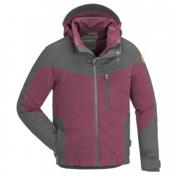 Pinewood Finnveden Hybrid, Plum, outdoor jacket for children. A durable jacket for play, hiking, fishing and camping.