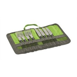BBQ stainless steel cutlery for four people.
