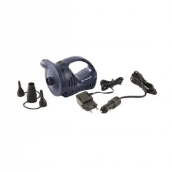 Rechargeable pump for air mattresses and tent mattresses.