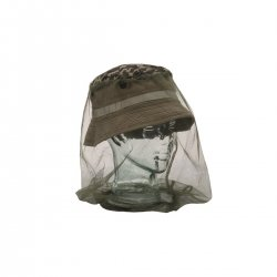 Insect netting for heads suitable for fishing, camping and outdoor activities.