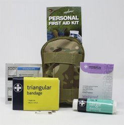 First-aid kit in pocket format that can be attached to your belt. Petrfekt to have in the snowmobile, backpack, boat or hike.