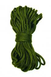 Paracord (parachute cord) is an extremely strong line of camping and outdoor activities.