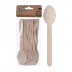 Disposable cutlery wood - spoon (20 pack)