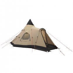 Robens Kiowa is a tippy tent with rain-protected entrance for camp sites or scout corps.