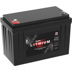Lithium battery for caravan, motorhome and boat with built-in heating system and blutooth connection.