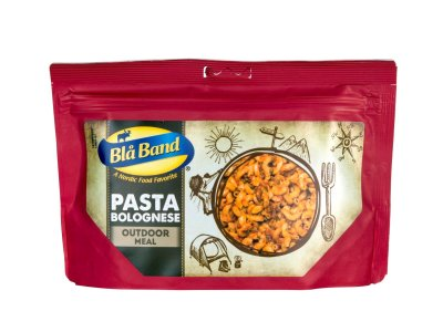 Blue Band Freeze Dried Pasta Bolognese for camping and outdoor activities.