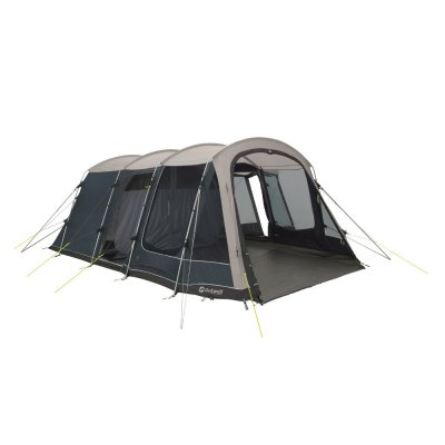 Outwell Montana 6P spacious family tent for six people with three doors and high comfort in the sleeping cabin.