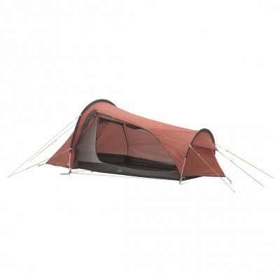 1-person hiking tent with good fabric and aluminum rods and the opening of the side..