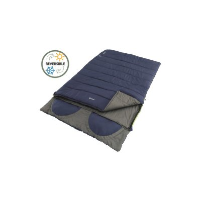 Outwell Contour Lux Double Hot double camping sleeping bag with built-in cushions that fit the entire camping season.