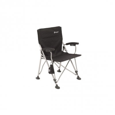 Stable folding camping chair with armrests and extra large feet from Outwell.