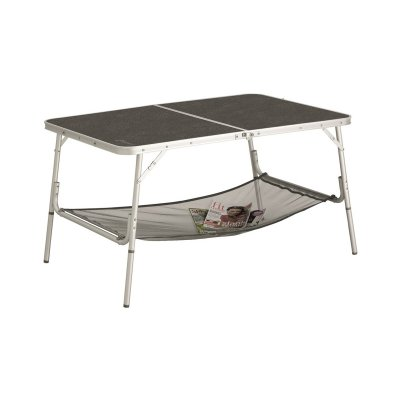 Folding camping table with adjustable legs