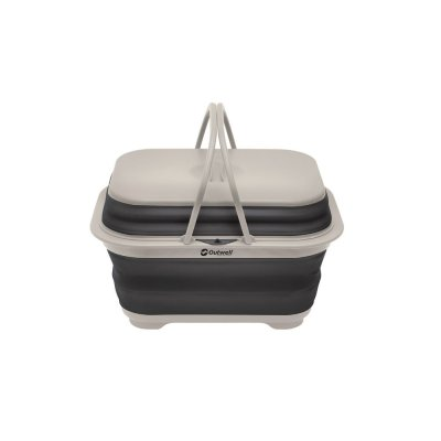 Outwell Collaps portable sink with lid and handle for camping.