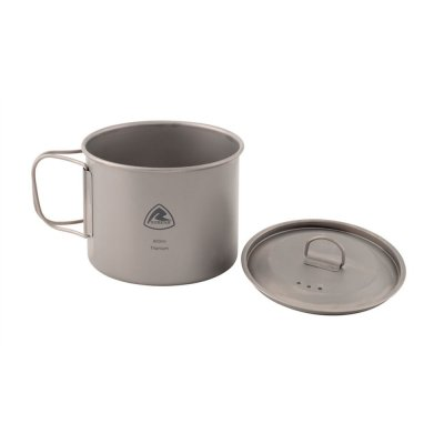 Robens Titanium Pot 0.9L - for cooking on the gas stove or open fire