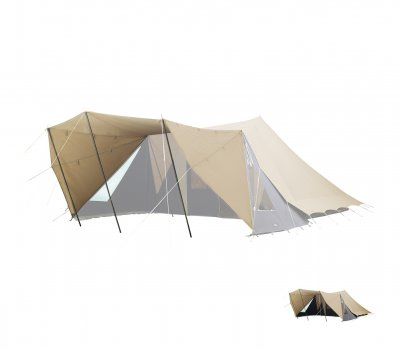De Waard Albatross Canopy XL. Provides a sheltered patio in front of your tent Albatross.