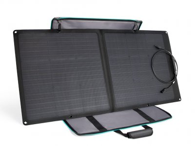 Durable larger solar panel that provides efficient charging of your EcoFlow Battery Pack even in bad weather.