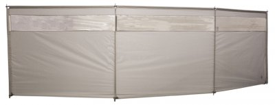 Wind screen for caravans and mobile homes with windows.