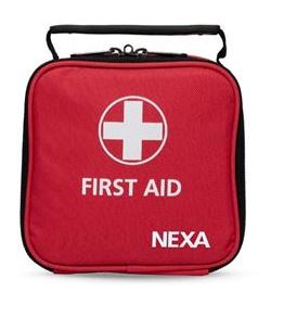First aid kit in a small format, ideal for car, boat or summer cottage.
