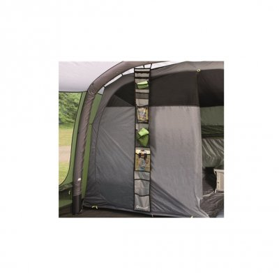Organizer for family tent. Easily mounted at the sleeping cabin.