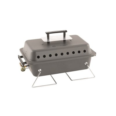 Simple gas grill for camping. Compact gas grill with a power of 2500W and lava stones in the bottom for better heat. Stable fold