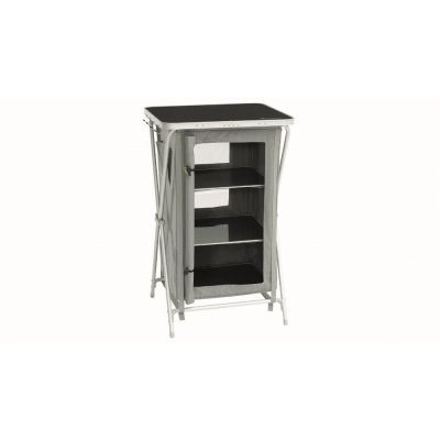 Outwell Domingo folding camping cabinet with three shelves