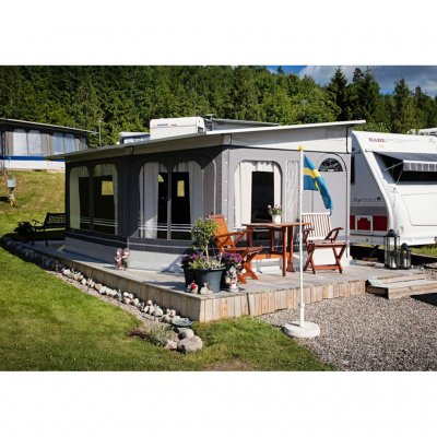 Svenska Tält Standby is a Swedish high-quality year-round tent for caravans and motor homes.